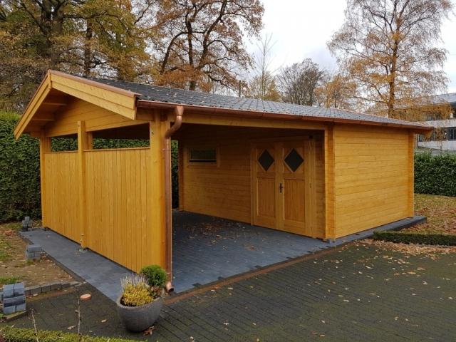 Carport, Satteldach, Abstellraum