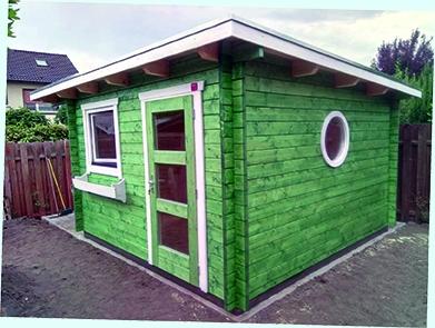 Gartenhaus, Gartenhaus, Abstellraum, Pultdach, farbig lasiert