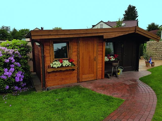 Gartenhaus mit Pultdach
