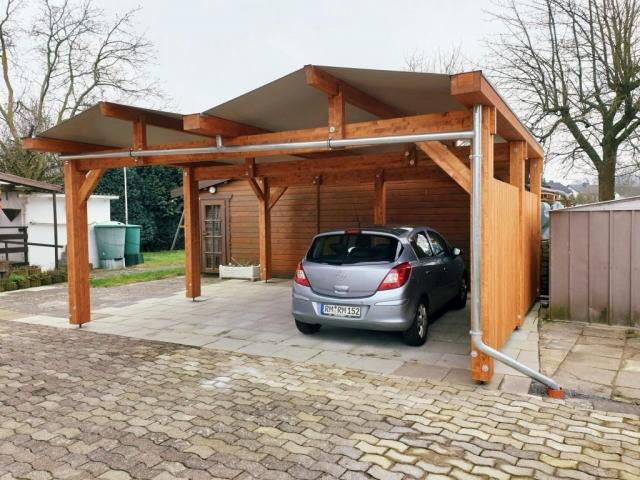 Doppel-Carport, Planendach