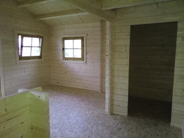 Gartenhaus, innen, Raumaufteilung