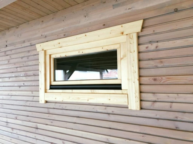 Holz, Doppel-Carport, Fenster, Wandverkleidung, Montage