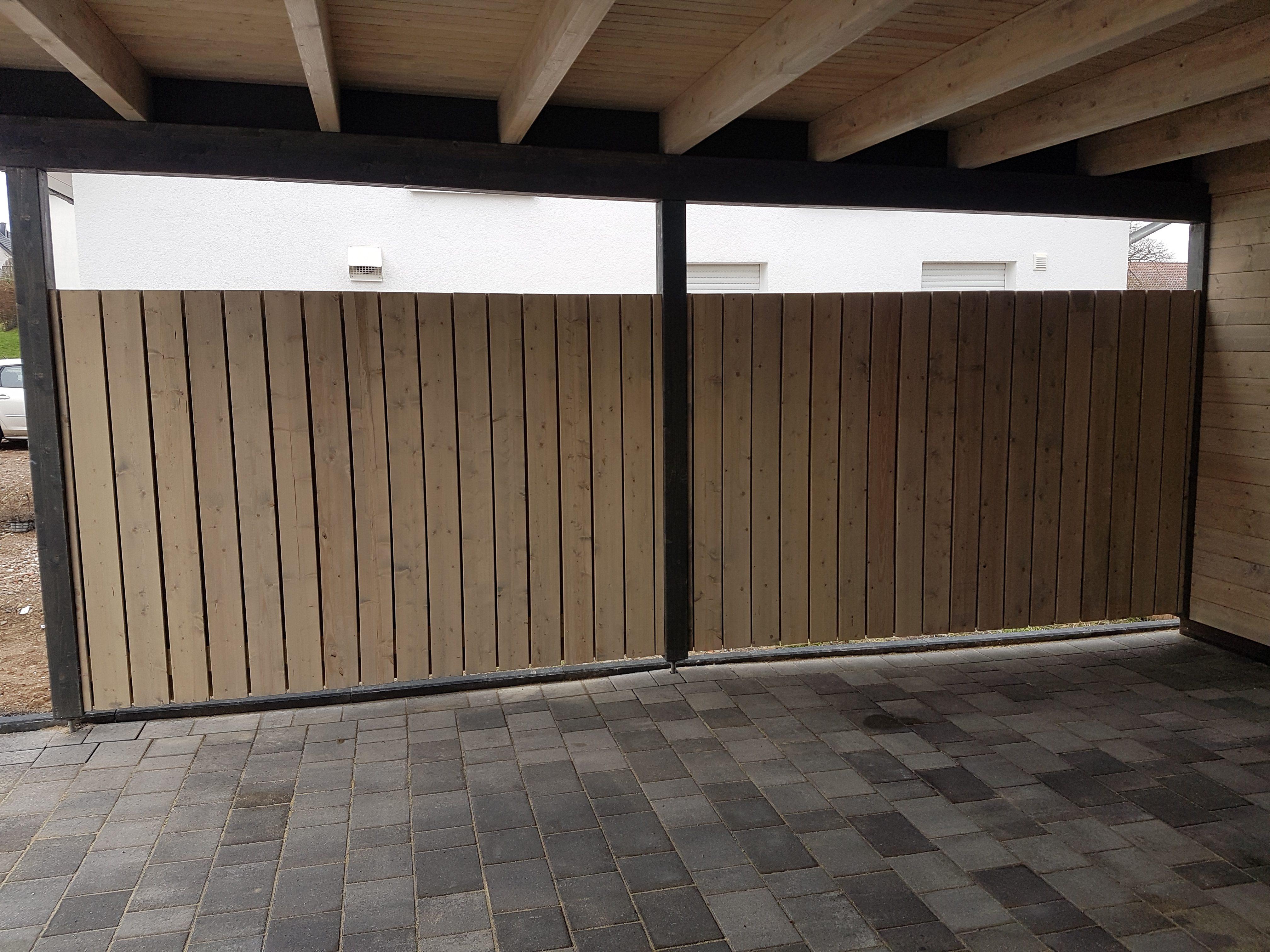 Carport, Detail, Schwerer Sichtschutz