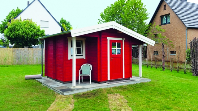 Gartenhaus, Gerätehaus, Abstellraum, farbig