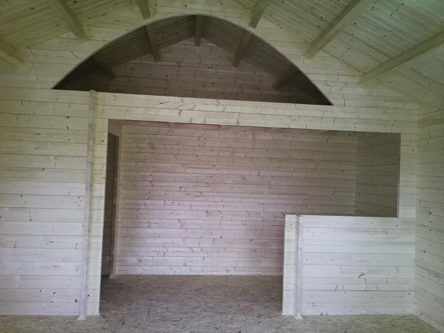 Gartenhaus, innen, Detail, Schlafboden