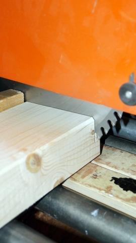 Holz, Balken, Fertigung, Zuschnitt