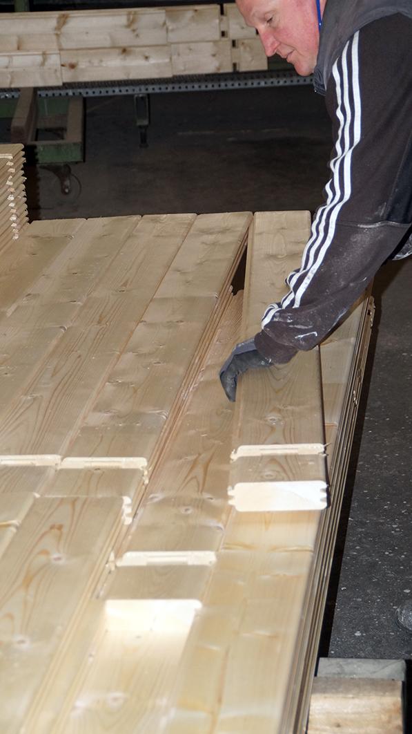 Holz, Balken, Fertigung
